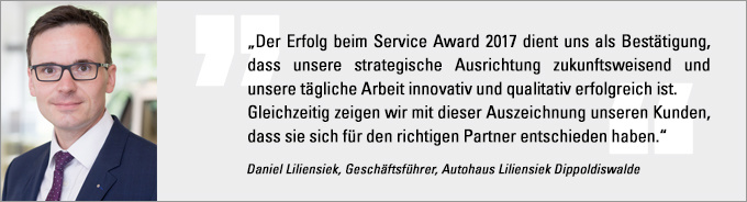 Statement Liliensiek, Service Award