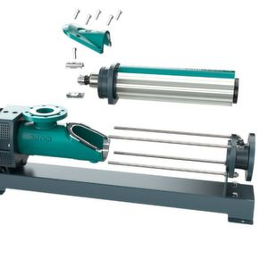 The rotor-stator unit can be simply lifted out after opening the newly designed inspection cover on the pump housing.