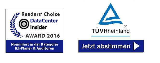 TÜV Rheinland ist nominiert in der Kategorie RZ-Planer und Auditoren