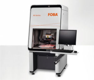 The laser-marking machine FOBA M2000, featuring the latest generation of fibre lasers and vision system IMP.
