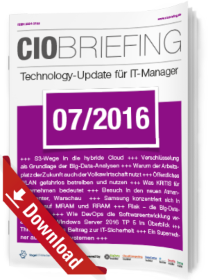 CIO Briefing 07/2016