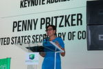 Secretary of Commerce Penny Pritzker delivered the keynote remarks at the opening ceremony of IMTS on 12 September. Speaking before hundreds of attendees, Secretary Pritzker highlighted the Department of Commerce's role in strengthening America's manufacturing industry.