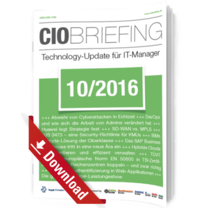 CIO Briefing 10/2016