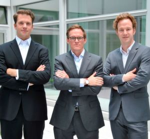 Das Labfolder Management-Team (v.l.n.r): Dr. Simon Bungers (Co-founder, CEO und Managing Director), Joris van Winsen (CFO und Managing Director), Dr. Florian Hauer (Co-founder, COO und General Director)