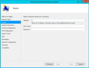 Microsoft Virtual Machine Converter unterstützt bei der Migration zu Hyper-V in Windows Server 2016.