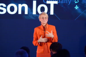"""Mit dem Watson IoT Center in München ebnet IBM den Weg in die kognitive Ära"", sagt Harriet Green, General Manager, Watson IoT and Education bei IBM."