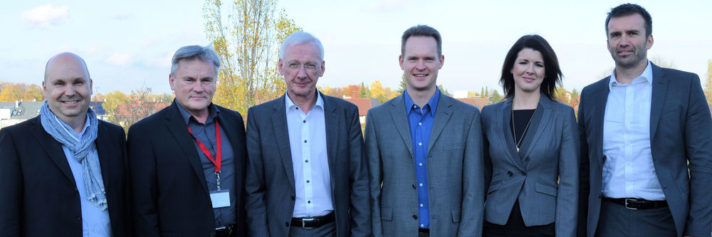 Partner in neuer Konstellation (v. l.): Peter Wüst (NetApp), Wolfgang Herold (Teamix), Klaus Donath (Ingram), Oliver