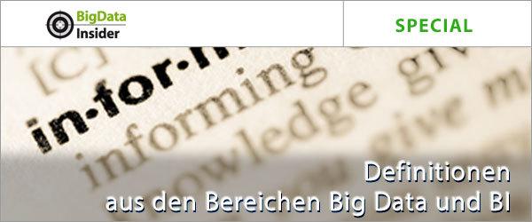 Special: Definitionen aus den Bereichen Big Data und BI |