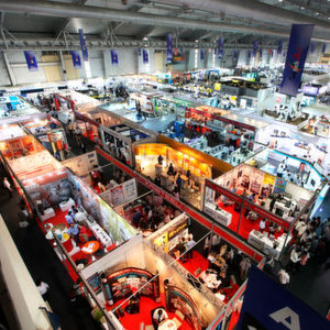 Aerial view of the previous edition of Imtex.