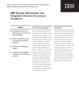 IBM Storage Optimization and Integration Service