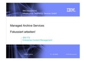 IBM ITS Enterprise Content Management