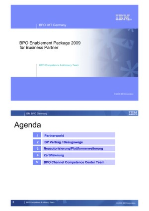 BPO Enablement Package 2009 für Business Partner