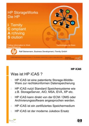HP iCAS – Die Compliance Archivlösung