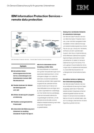 Remote Data Protection mit IBM