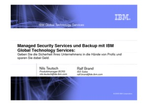 Managed Security Services und Backup mit IBM