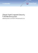 Full Disk Encryption (FDE) von Check Point