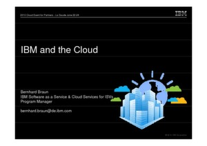 IBM Cloud Offernings und Software Services