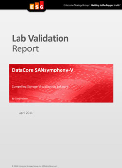 "Lab Validation Report ""DataCore SANsymphony-V"""