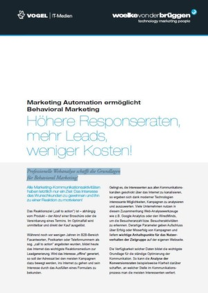 Behavioral Marketing durch intelligente Marketing Automation