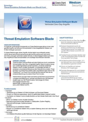 Threat Emulation Software Blade