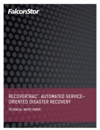 Automated Service-Oriented Disaster Recovery