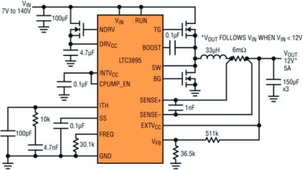 Bild 2a: Schaltplan des LTC3895.