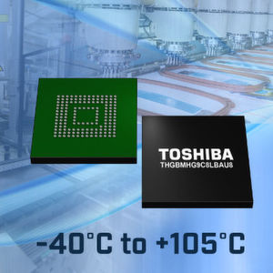 Toshiba Corporation's Storage & Electronic Devices Solutions Company bietet nun JEDEC eMMC Version 5.1 konforme Embedded-NAND-Flash-Speicher mit einem erweiterten Temperaturbereich von -40 bis +105°C an.