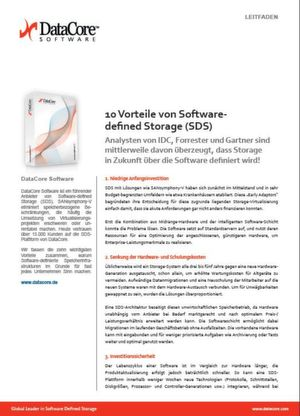 10 Vorteile von Software-defined Storage (SDS)