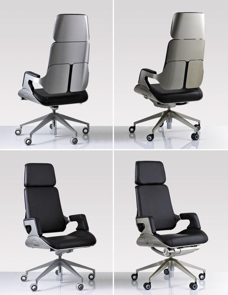 2. Prize: Office chair Silver by Interstuhl Büromöbel, Germany (left ...