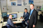From left to right: Hermann Stork, NC programmer and Tolga Bayraktar, Head of Technology at ATP, together with Andreas Leser, OPEN MIND's Sales Director for Germany, are pleased with their successful collaboration and the fact that the roughing module in hyperMILL MAXX Machining can reduce the production times for several ATP components by more than a third.