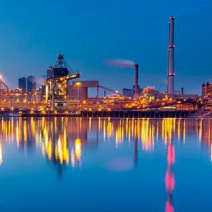 Tata Steel operates one of Europe's largest steel production facilities in IJmuiden, Netherlands.