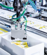 Perfect picking out of the bulk box — the newly developed 3D camera from Schubert makes it possible. It detects the exact position and layer height of the pens by scanning the complete top layer in the bulk box after each pick of the robot. This image allows the pens to be taken out of the box with high-level precision.