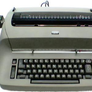 The typewriter went from the office to the niche market