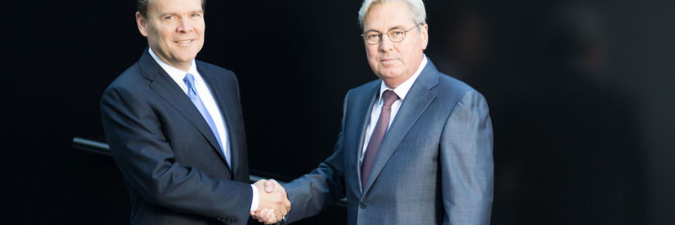 Peter R. Huntsman (left), President and CEO of Huntsman, and Hariolf Kottmann, CEO of Clariant, want a merger of equals to create a leading global specialty chemical company with approximately $20 billion enterprise value at announcement.
