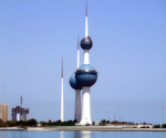 Platz 10: Kuwait mit 2.710.000 Barrel Erdöl pro Tag (April 2017). Bild: Deepak_gupta - Eigenes Werk, CC BY-SA 2.5, https://commons.wikimedia.org/wiki/File:Kuweit-towers.JPG