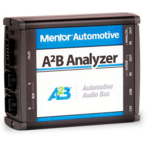 Mentor Automotive erweitert sein Testplattform-Portfolio für den Automotive Audio Bus (A²B) von Analog Devices.