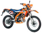 Rieju Marathon Replica Cross 125, Liquid Cooled orange, Modelljahr 2017.