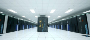 Sunway TaihuLight steht im National Supercomputing Center, Wuxi