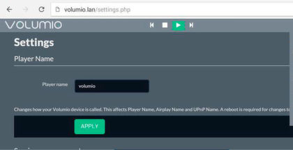 Seite 9: Musik-Streaming: VolumIO und moOde Audio Player