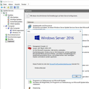 WSUS in Server 2016 ein­rich­ten und Windows 10 anbinden