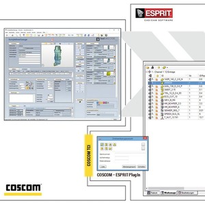 """Coscom connected"" integriert auch CAM-Software Esprit"
