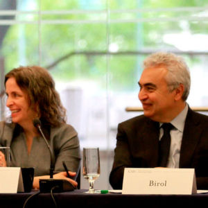 IEA executive director Dr Fatih Birol, right, speaking at a joint CSIS-IEA workshop on natural gas.
