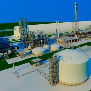 The new fertilizer complex located in the Sungai Liang Industrial Park will have a production capacity of 2,200 tons of ammonia and 3,900 tons of urea per day.