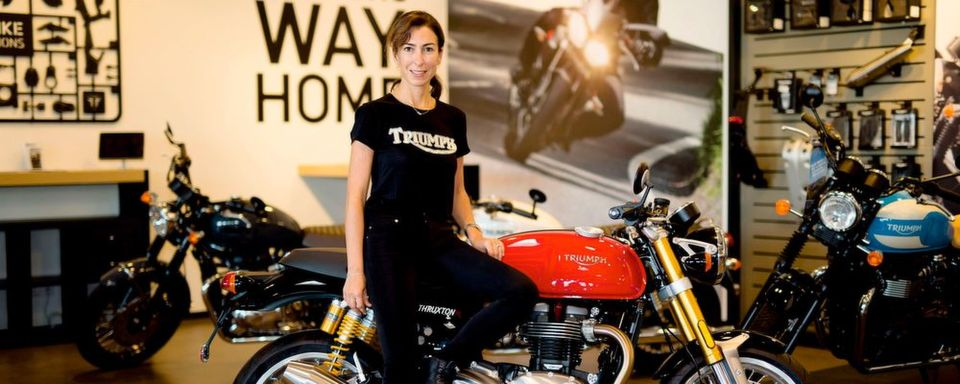 Natalie Kavafyan, Genetral Manager Triumph Motorcycles Germany & Austria.
