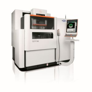 GF showcased its Form P 350 from the company's Form family of die-sinking EDM machines at EMO recently.