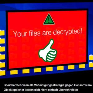 Snapshots via Flash und Cloud Data Management hebeln Ransomware aus