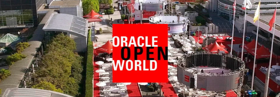 Blick auf das Open-Air-Areal der Oracle Open World 2017
