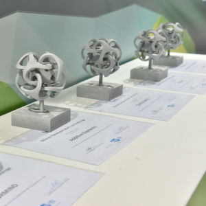 Awards given to the winners of the formnext Start-up Challenge 2017.