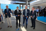 L-R: Klas Forsström, Sandvik Machining Solutions president, Stefan Steenstrup, Dormer Pramet president, Marek Kotrlý, managing director and production manager Dormer Pramet and Zdenek Broz, Mayor of Šumperk at the ribbon-cutting ceremony for the official opening.