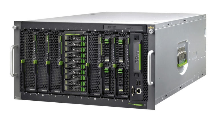 Abbildung 1: Blade-Server: ein Fujistu-Server Primergy BX400